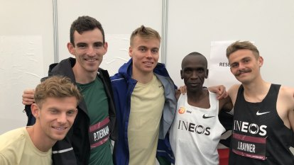 'It was to be part of history': The Australians who helped Kipchoge run into record books