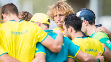 Stepping up: Parahi is the third Australian men's sevens captain in three weeks.