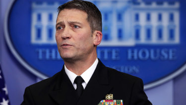 White House physician Dr Ronny Jackson impressed Donald Trump when he gave a glossing assessment of the President's health.