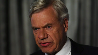 Liberal Party president Michael Kroger on election night.