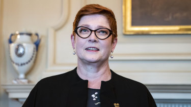 Australia's Foreign Minister Marise Payne in Washington.