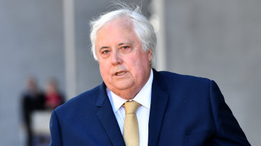Clive Palmer's company donated more than $80 million to the United Australia Party.