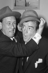 """Ain't that somethin'?"" Abbott and Costello on June 15, 1955."