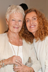 Dame Judi Dench with David Hare's fashion designer wife Nicole Farhi in 2016.