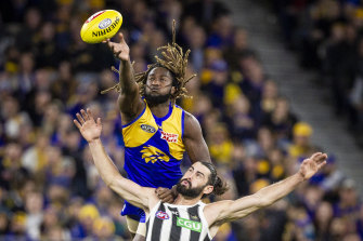 Nic Naitanui looks fit for a return after completing a thorough two-hour training session.