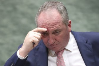 Deputy Prime Minister Barnaby Joyce, who returned to the Nationals' leadership this week.