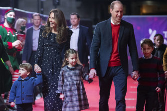 The Cambridges step out in December last year.