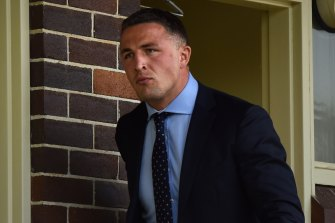 Sam Burgess at Moss Vale Court last week.