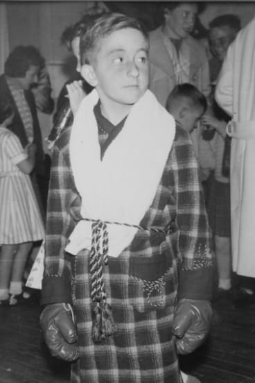 Barrister Jack Pappas as a young boy boxer.
