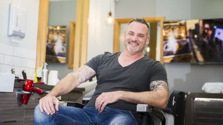 The Royal Barber Shop owner David Tutalo, who says Queanbeyan's town centre would benefit from a greater variety of shops, including more cafes and restaurants with outdoor dining.