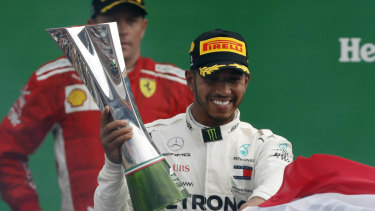 Overshadowed: Lewis Hamilton disappointed the Ferrari fans with his Monza victory.