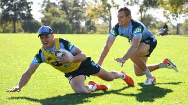 No risk: NSW centres Jack Wighton (left) and Tom Trbojevic.