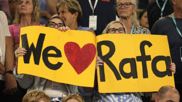 Rafa Nadal fans show their love.