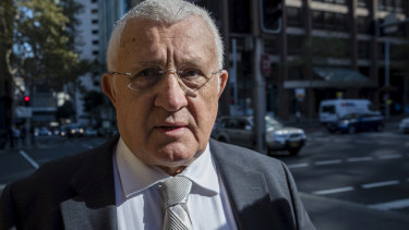 Ron Medich outside the Supreme Court during his murder trial.