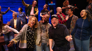 Cast performing in Come From Away in Melbourne.