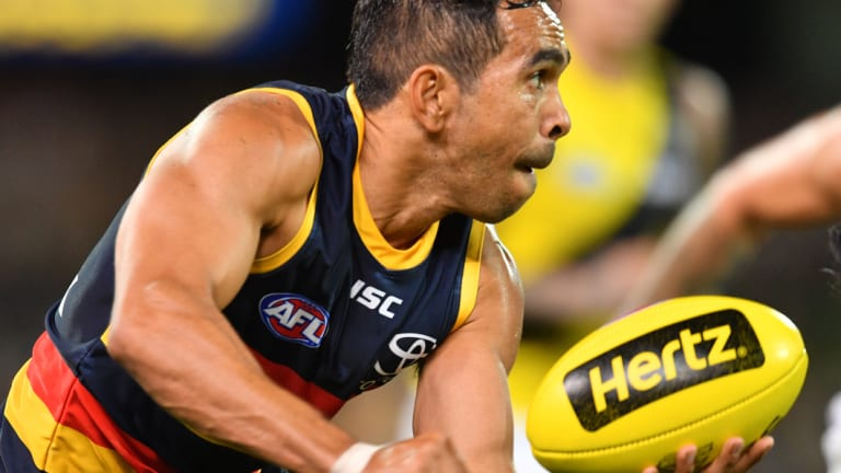 Eddie Betts was one of the players blindfolded for two hours.
