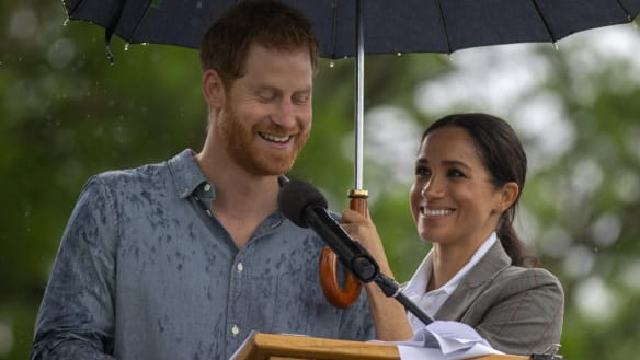 Harry and Meghan bring downpour to drought-hit Dubbo