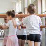 My son is excited for Auskick. So he's taking ballet first