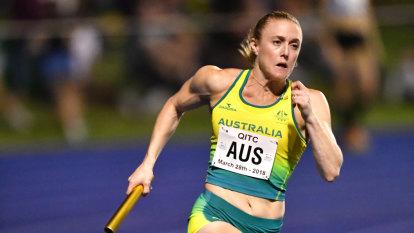 Pearson and Australia's 4x100 women run scorching relay