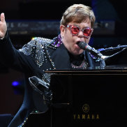 Still standing ... Elton John opens his Victorian tour leg at A Day on the Green at Mount Duneed Estate.