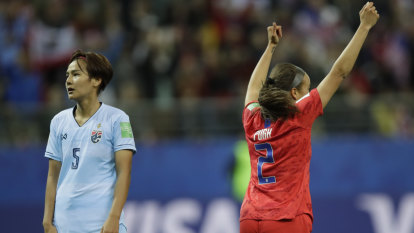 US rout of Thailand proves that FIFA still has work to do to level the playing field