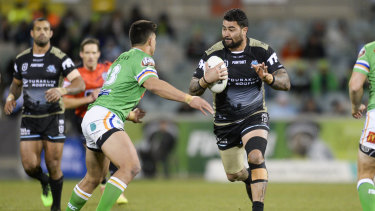 Charged for tackle: Cronulla front-rower Andrew Fifita.