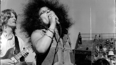 Wendy Saddington performs with the band Chain in 1970.