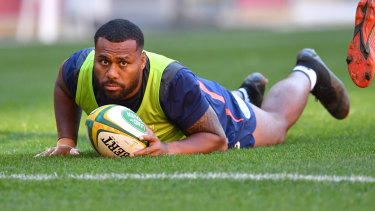 Dirty dozen: Samu Kerevi wasn't sold on the move from 13 to 12 for the Reds.