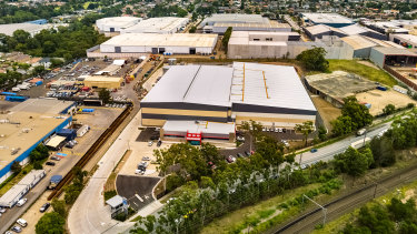 The industrial property at 37-39 Wentworth Street in Sydney's Greenacre.