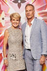 Julie Bishop and David Penton at the Louis Vuitton store re-opening.
