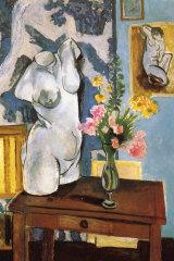 Matisse's 'Le torse de plâtre, bouquet de fleurs' (1919) (detail).