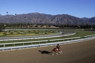 The Santa Anita track.