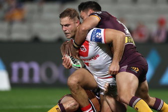 Jack de Belin's return helped lift the Dragons to a big win on Thursday night.