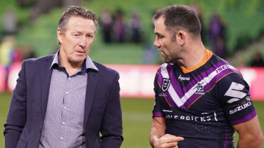 Craig Bellamy (left) has suggested skipper Cameron Smith is weighing up retirement.