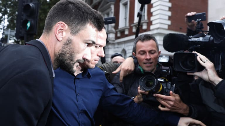 Facing the music: Tottenham Hotspur's French goalkeeper Hugo Lloris arrives at Westminster magistrates court.