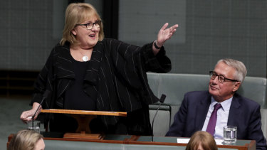 Labor MP Jenny Macklin delivers her valedictory speech.