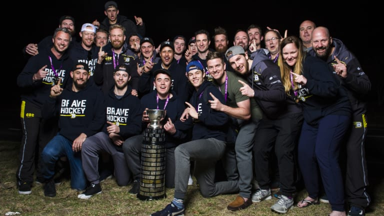 The Brave partied hard after their Goodall Cup victory.