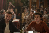 Michaél Richardson, right, and his father Liam Neeson in a scene from Made In Italy.