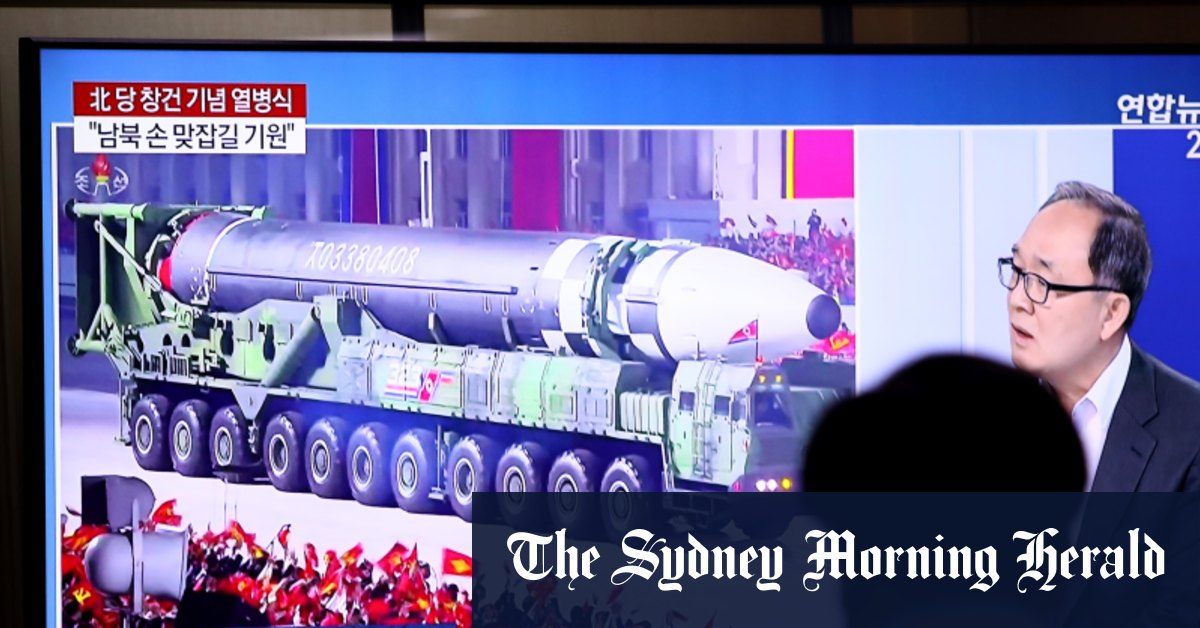 North Korea unveils new weapons at military parade – Sydney Morning Herald