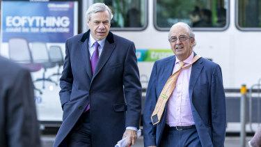Victorian Liberal Party president Michael Kroger (left).
