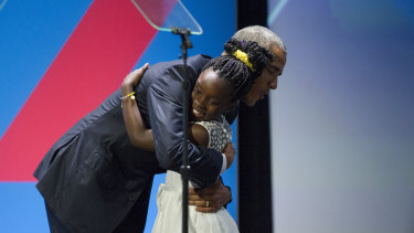 Mikaila Ulmer with Barack Obama in 2016.