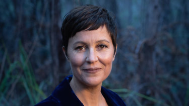 Novelist Heather Rose on Bruny Island.