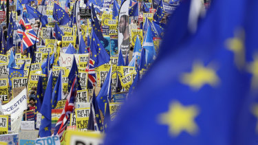 If official estimates match the one-million number, it would make it one of the biggest demonstrations Britain has ever seen.