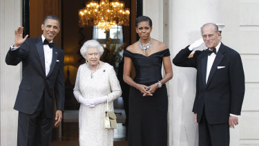 The royal couple with the then US President Barack Obama and first lady Michelle Obama in London in 2011.