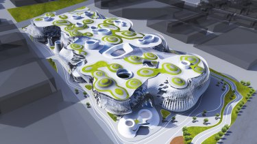 RMIT Architecture students Sida Feng and Shuai Tang's vision for Fishermans Bend.