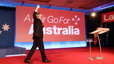 Opposition Leader Bill Shorten at the the 2019 Australian Labor Party campaign launch at the Brisbane Convention and Exhibition Centre.