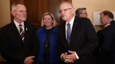 Prime Minister Scott Morrison - with  Candidate for Bass Bridget Archer - is targeting the 'grey vote' in Tasmania.