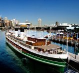 The South Steyne in its early days docked at Darling Harbour.