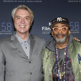 David Byrne (left) and Spike Lee at a New York screening.
