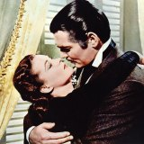 Vivien Leigh and Clark Gable as Scarlett and Rhett in Gone With The Wind.